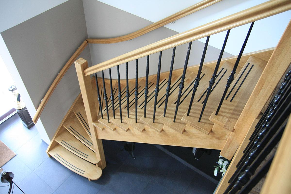 Ttl trappen en timmerwerken albergen overijssel twente voor trappen op maat trap - Leuning smeedijzeren trap ...